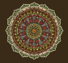 T Shirts • Travel Souvenir • Colored Mandala Design 8 by Greg Dampier All Rights Reserved.