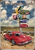 T Shirts • Vehicle Related • Route 66 Motel Corvette Retro by Greg Dampier All Rights Reserved.