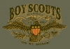 T Shirts • Youth Designs • Boy Scouts Vintage Eagle by Greg Dampier All Rights Reserved.