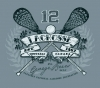 T Shirts • Sports Related • Lacrosse Crossed Stix by Greg Dampier All Rights Reserved.