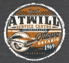 T Shirts • Vehicle Related • Atwill Service Center Vintage Tee 3 by Greg Dampier All Rights Reserved.