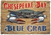 Illustration • Full Color • Vintage Blue Crab Sign by Greg Dampier All Rights Reserved.