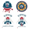 Logos • Covid Cert Stickers by Greg Dampier All Rights Reserved.