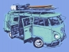 T Shirts • Vehicle Related • Surf Camp Vw Van Only Close by Greg Dampier All Rights Reserved.