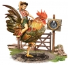 Illustration • Full Color • Vintage M North Rooster Pinup Art by Greg Dampier All Rights Reserved.