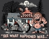T Shirts • Vehicle Related • Toots See What Happened Was Toon by Greg Dampier All Rights Reserved.
