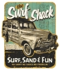 T Shirts • Vehicle Related • Surf Shack Sign by Greg Dampier All Rights Reserved.