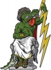 Illustration • Spot Color • Zeus Gator 4 by Greg Dampier All Rights Reserved.