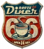 T Shirts • Travel Souvenir • Route66 Vintage Tine Diner Sign by Greg Dampier All Rights Reserved.