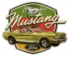 T Shirts • Vehicle Related • Mustang Shield Gto by Greg Dampier All Rights Reserved.