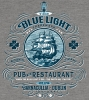 T Shirts • Travel Souvenir • Blue Light Pub And Restaurant by Greg Dampier All Rights Reserved.