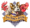 Illustration • Full Color • Two Hens On Soken Logo by Greg Dampier All Rights Reserved.