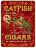 T Shirts • Travel Souvenir • Vintage Catfish Cigars Tin Sign by Greg Dampier All Rights Reserved.