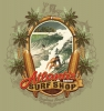 Illustration • Full Color • Atlantis Surf Shop Vintage Tee Close Up by Greg Dampier All Rights Reserved.