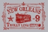 T Shirts • Travel Souvenir • New Orleans Vintage Trolly Stamp A by Greg Dampier All Rights Reserved.