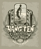 T Shirts • Travel Souvenir • Hang Ten Fest Tee by Greg Dampier All Rights Reserved.