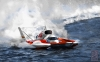 T Shirts • Vehicle Events • Hyroplane Racing Boat Red White And Blue by Greg Dampier All Rights Reserved.