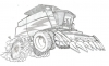 Illustration • Pencil • Harvester Sketch by Greg Dampier All Rights Reserved.