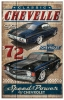 T Shirts • Vehicle Related • Classic Chevelle Wooden Sign Rustica by Greg Dampier All Rights Reserved.