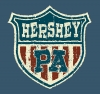 T Shirts • Business Promotion • Hershey Pa Flag Crest Rustica by Greg Dampier All Rights Reserved.