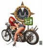 T Shirts • Vehicle Events • Mnorth Biker Girl Promo Tee by Greg Dampier All Rights Reserved.