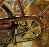 Fine Art • Close Up Of Abstract Sting Ray Bicycle by Greg Dampier All Rights Reserved.