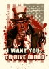 Illustration • Spot Color • Uncle Sam Blood Tee by Greg Dampier All Rights Reserved.