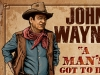 T Shirts • Travel Souvenir • John Wayne Poster Artwork Closeup 2 by Greg Dampier All Rights Reserved.