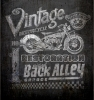 T Shirts • Vehicle Related • Ba Vintage Motorcycle Restoration Chalk Art by Greg Dampier All Rights Reserved.