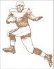 Illustration • Pencil • Vintage Football Player Sketch by Greg Dampier All Rights Reserved.
