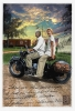 Fine Art • Ruth On Back Of Vintage Mororcycle Alturas by Greg Dampier All Rights Reserved.