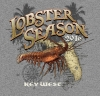 T Shirts • Travel Souvenir • Lobster Season Key West by Greg Dampier All Rights Reserved.