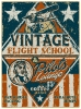 T Shirts • Travel Souvenir • Vintage Flight School Tin Sign by Greg Dampier All Rights Reserved.