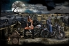 T Shirts • Vehicle Events • Murphys Motorcycle Company Day Of The Deadhalloween Tee by Greg Dampier All Rights Reserved.