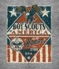 T Shirts • Youth Designs • Boy Scouts Rustic Eagle Flag Design by Greg Dampier All Rights Reserved.
