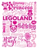 T Shirts • Business Promotion • Legolnd Girls Type Foil Tee by Greg Dampier All Rights Reserved.
